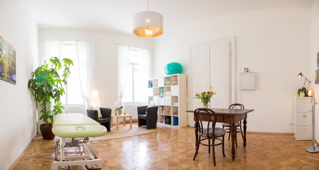 Das Foto zeigt eines der Behandlungszimmer der Praxis Villefortgasse, Standort von Ergotherapie Graz